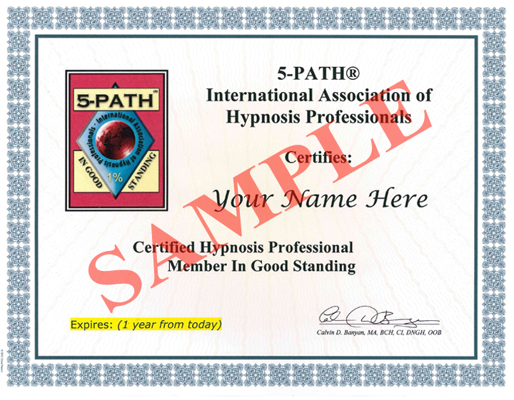 5-PATH International Association of Hypnosis Professionals