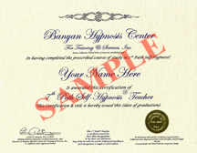 7th Path Self hypnosis Certificate
